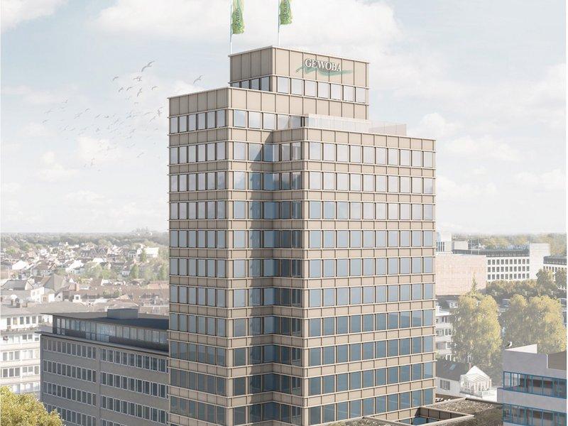 Visualisierung GEWOBA Bürohochhaus
