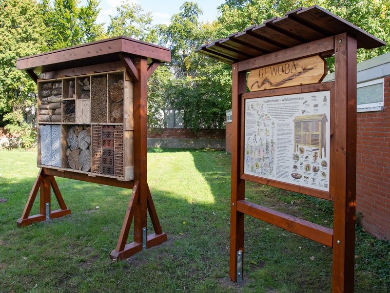 Neues GEWOBA Insektenhotel in der Vahr