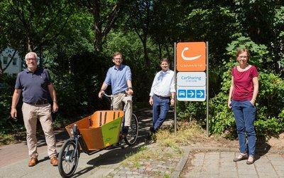 Vorschaubild für den Artikel 'Mehr Findorffer – weniger Autos: Mobilitätsangebot Utbremer Ring eingeweiht'