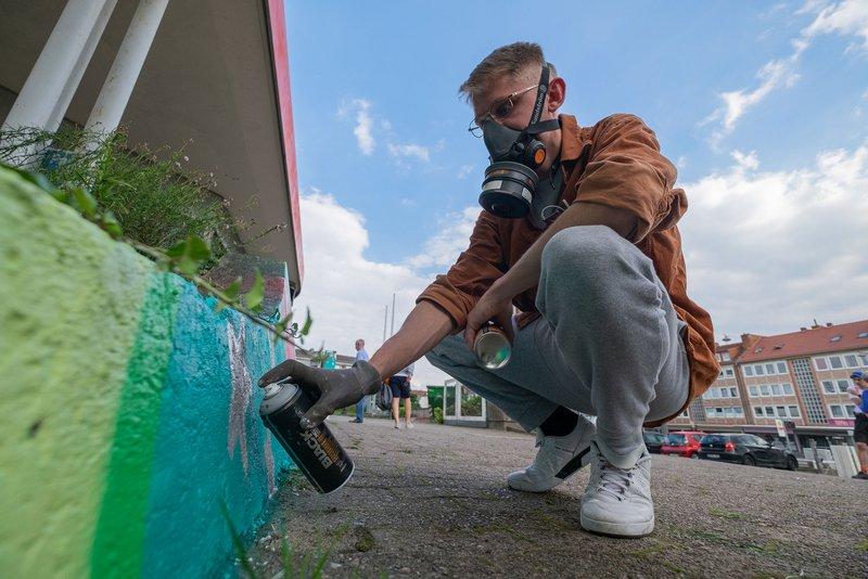 Graffiti Jam am Creative Hub Falkenstraße