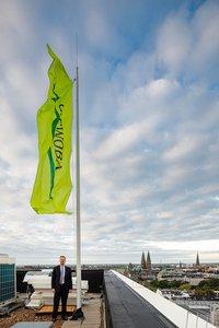 Vorschaubild für die Download-Datei Lars Gomolka auf dem Dach der Bremer GEWOBA-Zentrale