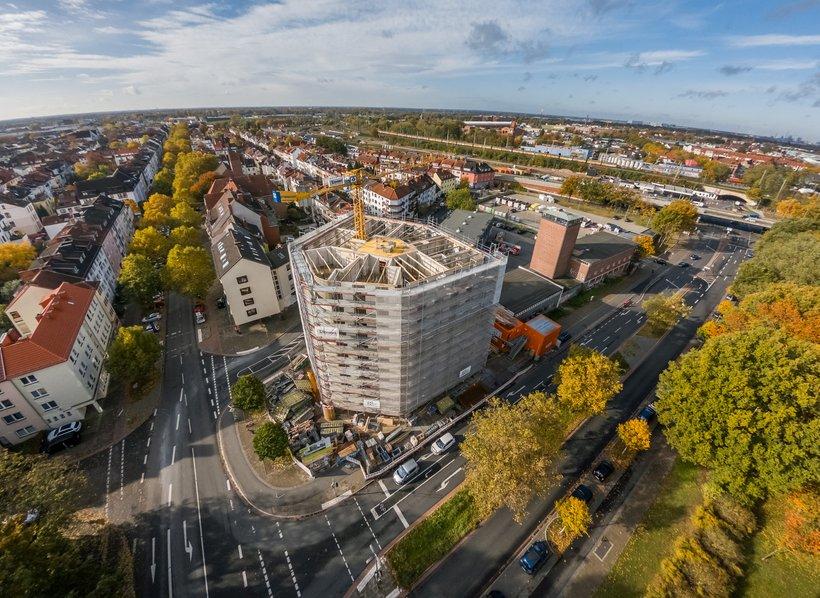 Erbauung eines Gebäude am Hohentorsplatz