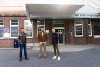 Vorschaubild für die Download-Datei Visionskultur als Zwischennutzung: v.l.n.r.: Marc Fucke, Hachem Gharbi und Aline Joost