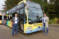 Vorschaubild für die Download-Datei Der neue GEWOBA Bus in Bremerhaven trägt Maske