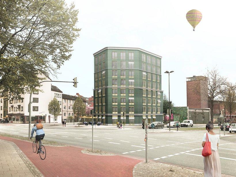 Visualisierung Grünes Haus Hohentorsplatz