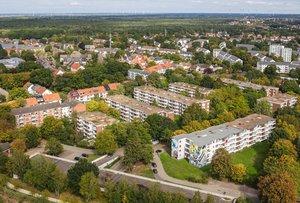 Luftbild der Lüssumer Heide in Bremen-Nord