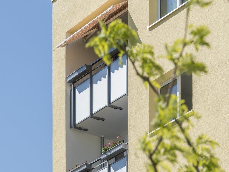 Balkone in der Robert-Blum-Straße